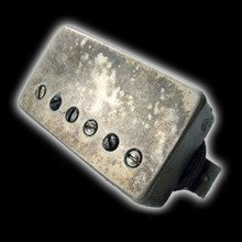 Humbucker Bare Knuckle Emerald 6 - Puszka Aged Nickel, bridge
