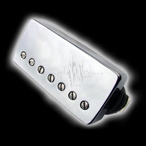 Humbucker Bare Knuckle Emerald 7 - Chromowana puszka, neck