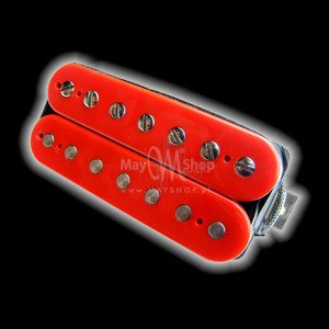 Humbucker Bare Knuckle Emerald 7 - czerwony, bridge