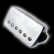 Humbucker Bare Knuckle Geoff Whitehorn Crawler 6 - Chromowana puszka, bridge